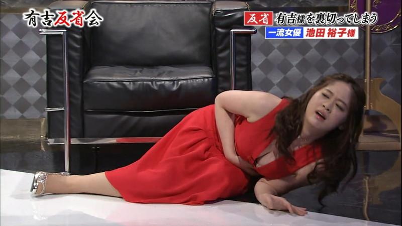 【池田裕子キャプ画像】記者会見で虫を食べるハメになった芸人気質のグラドルwwww 27