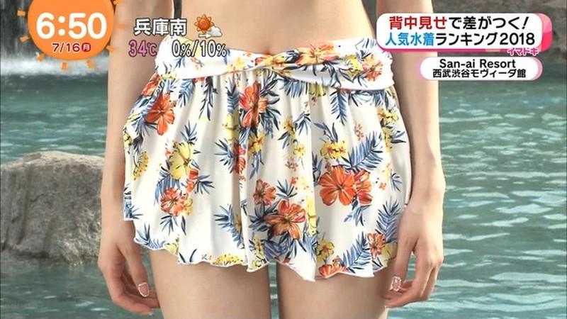 【松川菜々花キャプ画像】ファッションモデルが水着姿を地上波で披露する貴重シーン! 25