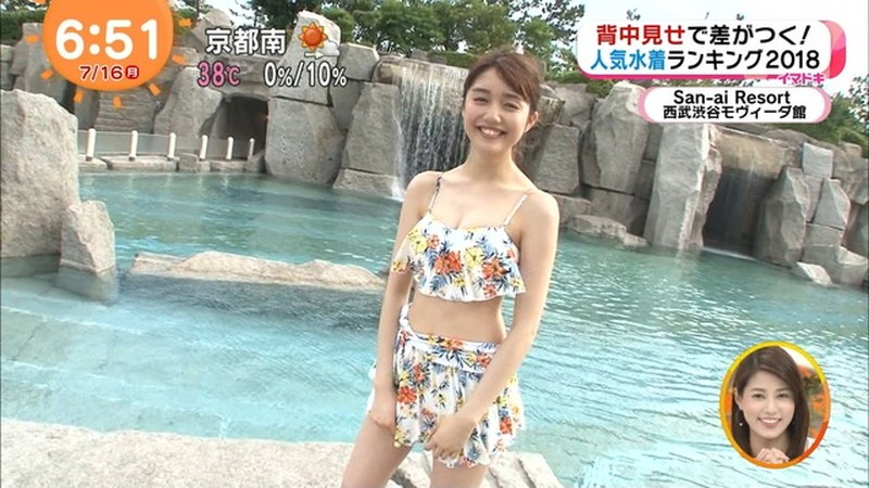 【松川菜々花キャプ画像】ファッションモデルが水着姿を地上波で披露する貴重シーン! 27