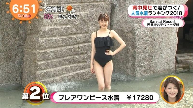 【松川菜々花キャプ画像】ファッションモデルが水着姿を地上波で披露する貴重シーン! 30