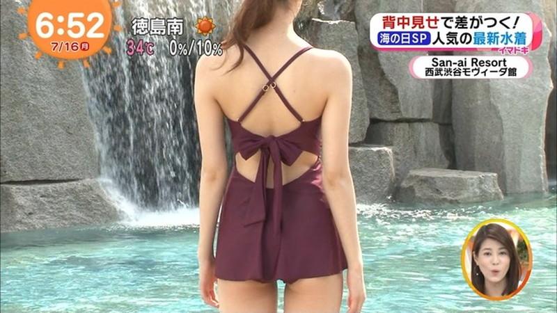 【松川菜々花キャプ画像】ファッションモデルが水着姿を地上波で披露する貴重シーン! 52