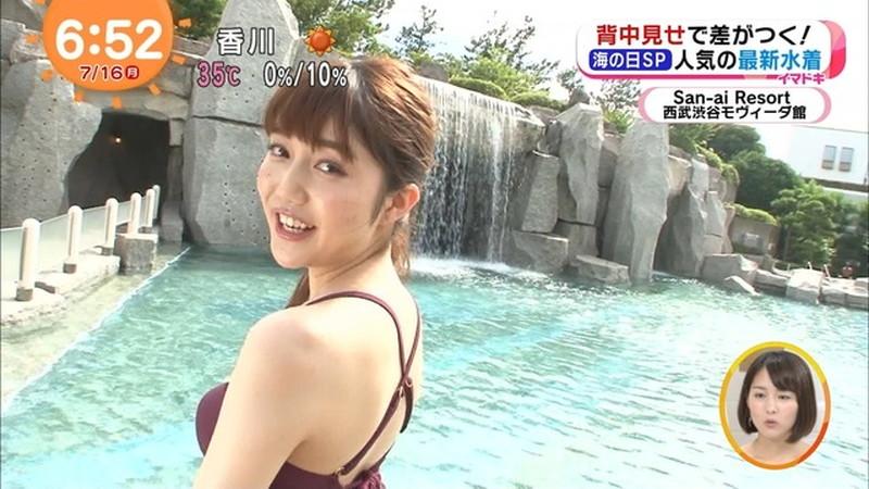 【松川菜々花キャプ画像】ファッションモデルが水着姿を地上波で披露する貴重シーン! 55