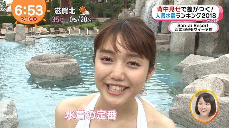【松川菜々花キャプ画像】ファッションモデルが水着姿を地上波で披露する貴重シーン! 65