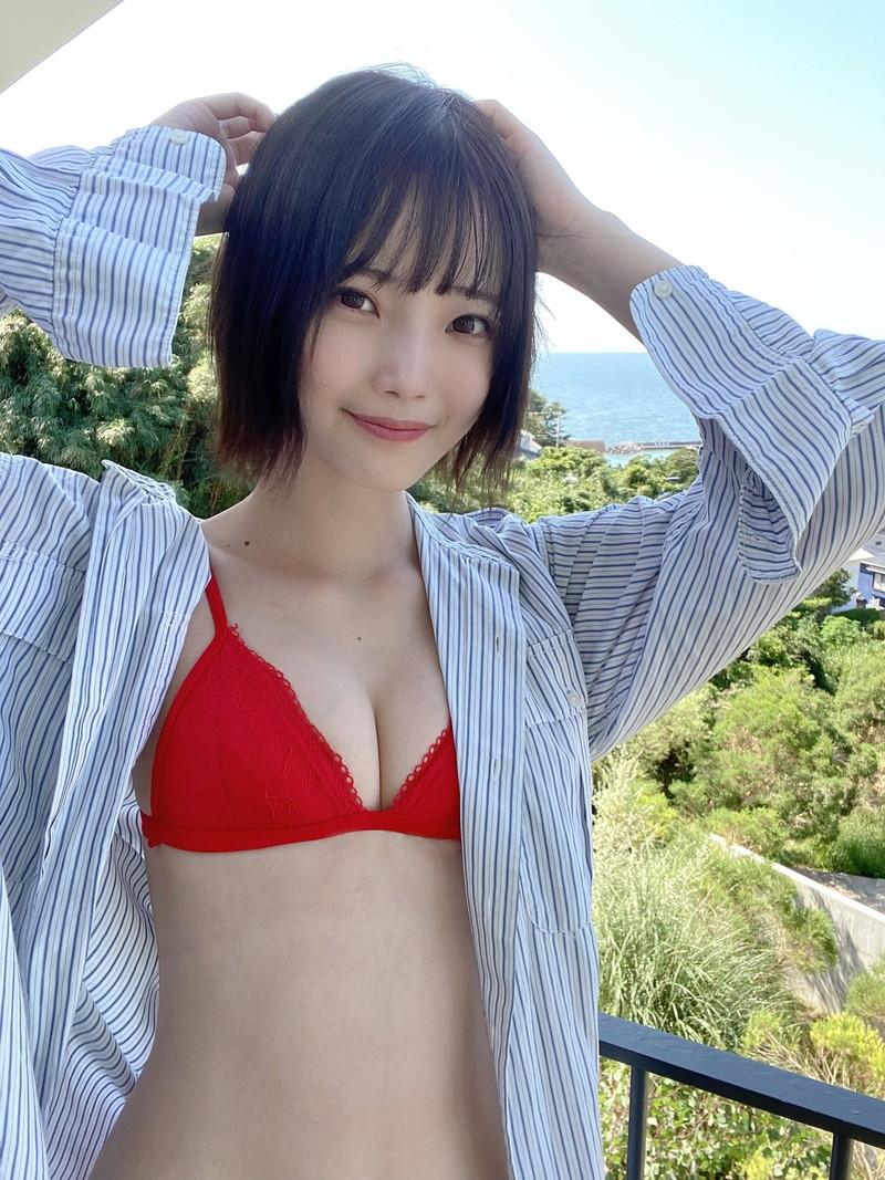 【新谷姫加キャプ画像】ジュニアアイドル出身の可愛いグラドルが全力疾走チャレンジ! 40