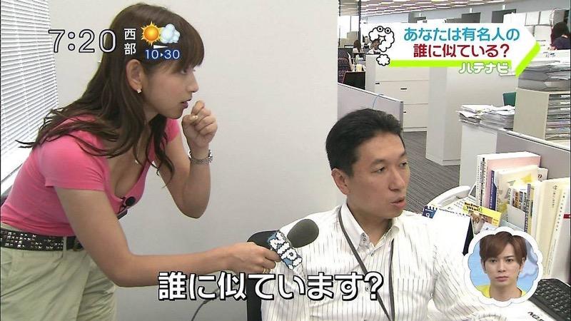 【女子アナハプニング画像】オッパイのラインが出てたりフェラ顔してたりのエロ画像 06