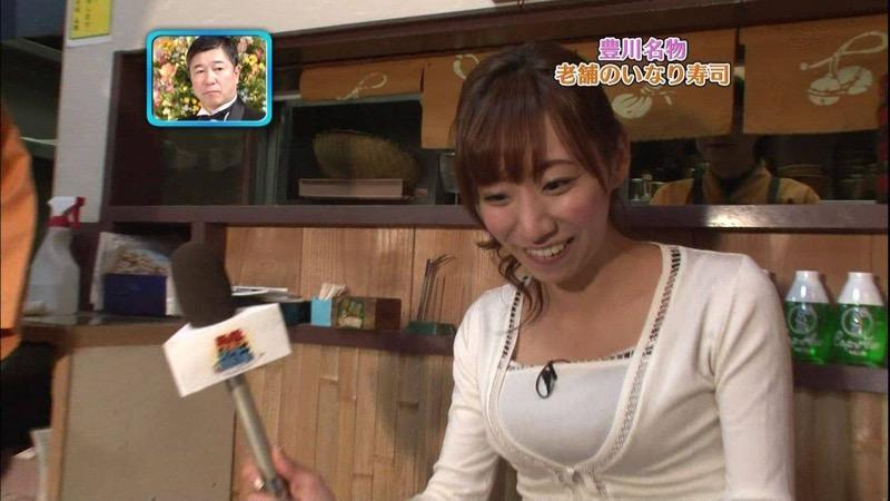 【女子アナハプニング画像】オッパイのラインが出てたりフェラ顔してたりのエロ画像 52