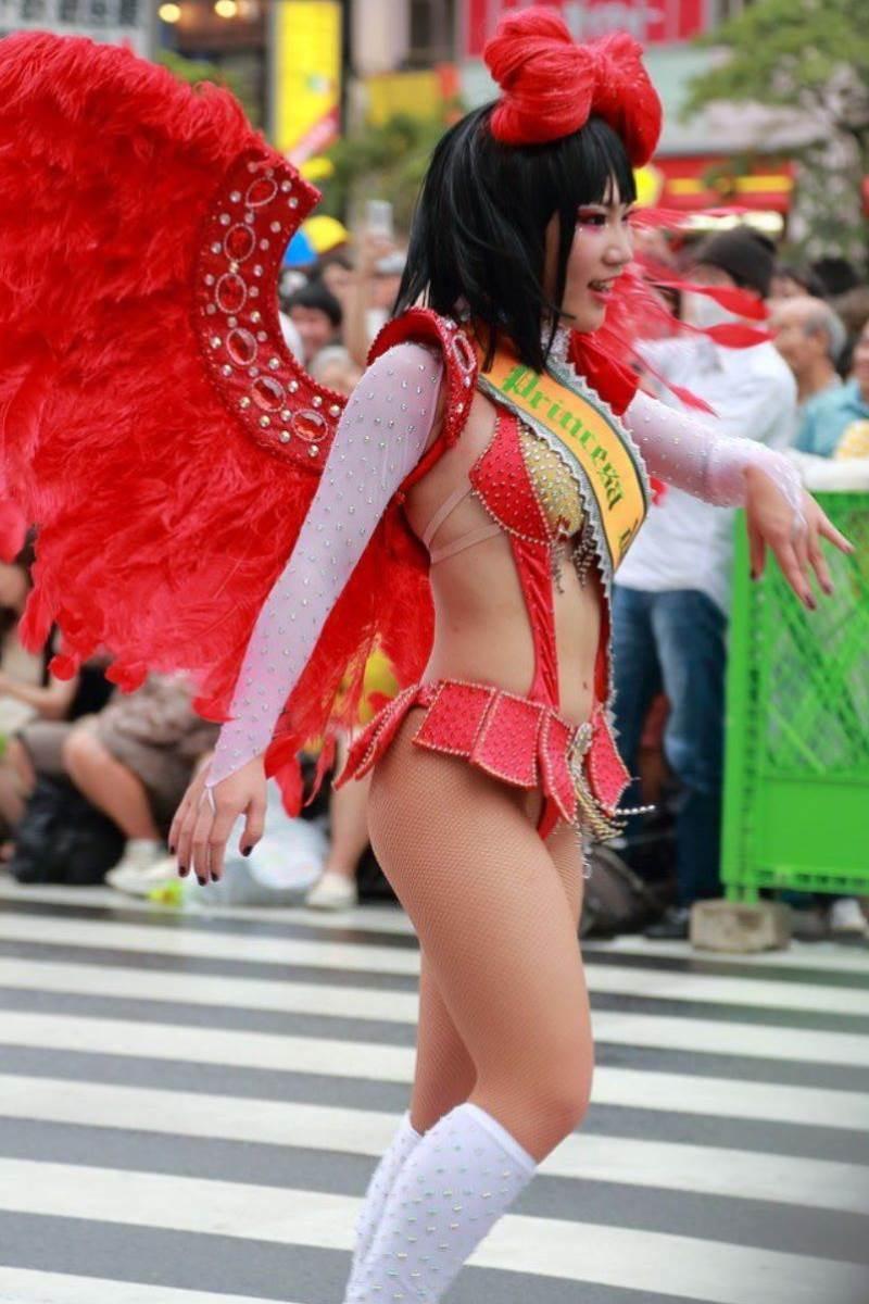 【サンバカーニバルエロ画像】見られたい欲を満たしたくて毎年現れる露出痴女wwww 51
