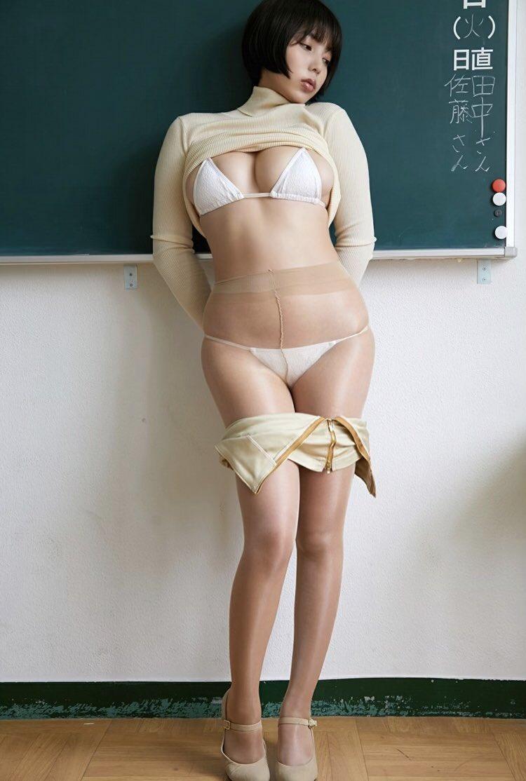 【安位カヲルエロ画像】恵体番付で横綱になったGカップ巨乳ボディグラドル 43