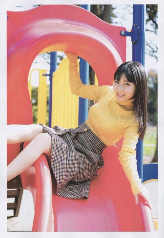 【田中美久エロ画像】水着グラビアでオッパイが大きいと評判のHKT48アイドル 09