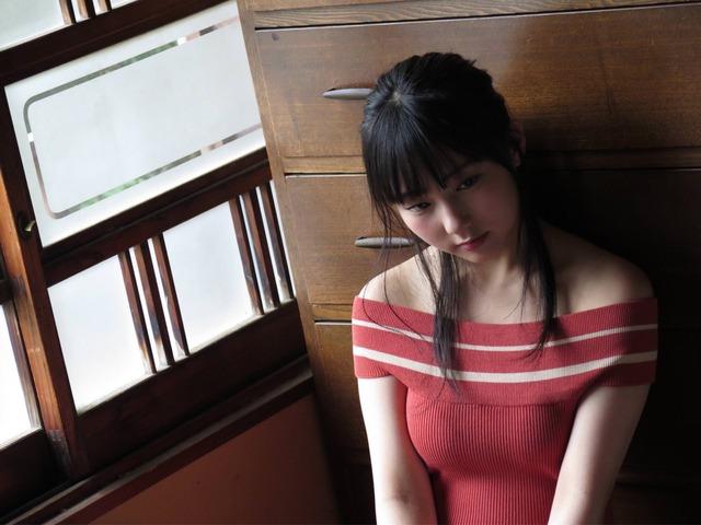 【田中美久エロ画像】水着グラビアでオッパイが大きいと評判のHKT48アイドル 73