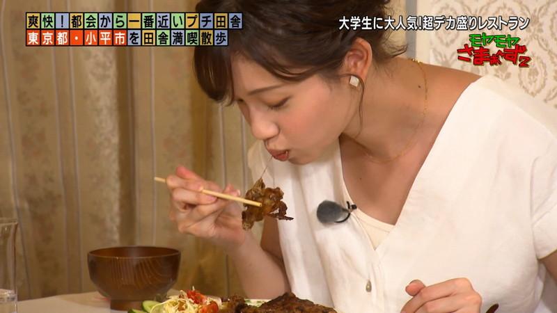 【女子アナキャプ画像】笑顔がとっても可愛らしい田中瞳ちゃんの食レポ!