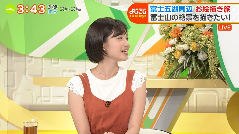 【女子アナキャプ画像】笑顔がとっても可愛らしい田中瞳ちゃんの食レポ! 07