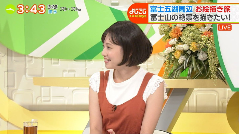 【女子アナキャプ画像】笑顔がとっても可愛らしい田中瞳ちゃんの食レポ! 08