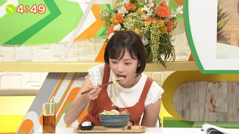 【女子アナキャプ画像】笑顔がとっても可愛らしい田中瞳ちゃんの食レポ! 15