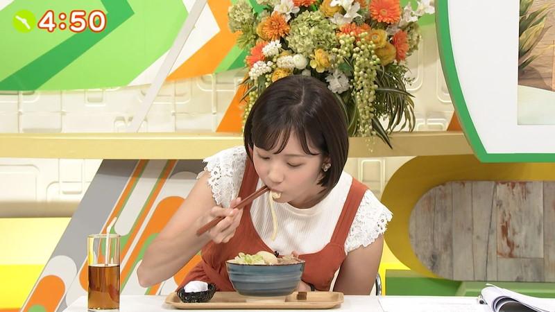 【女子アナキャプ画像】笑顔がとっても可愛らしい田中瞳ちゃんの食レポ! 16