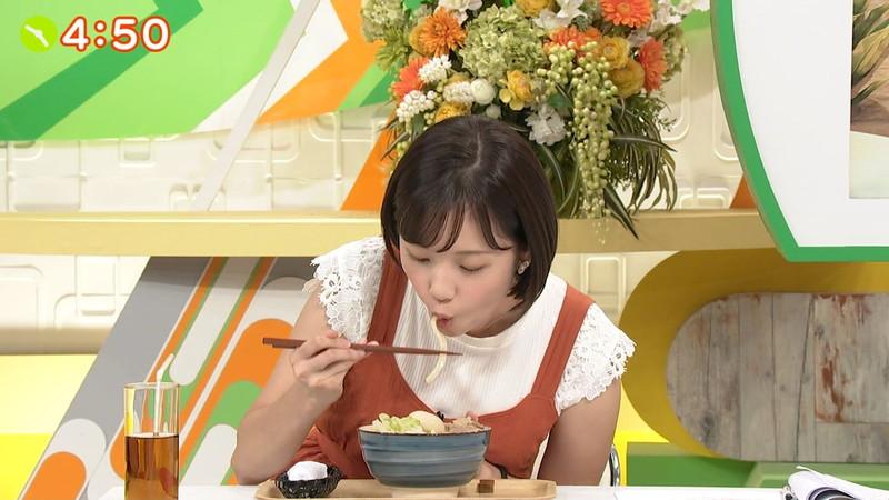 【女子アナキャプ画像】笑顔がとっても可愛らしい田中瞳ちゃんの食レポ! 17