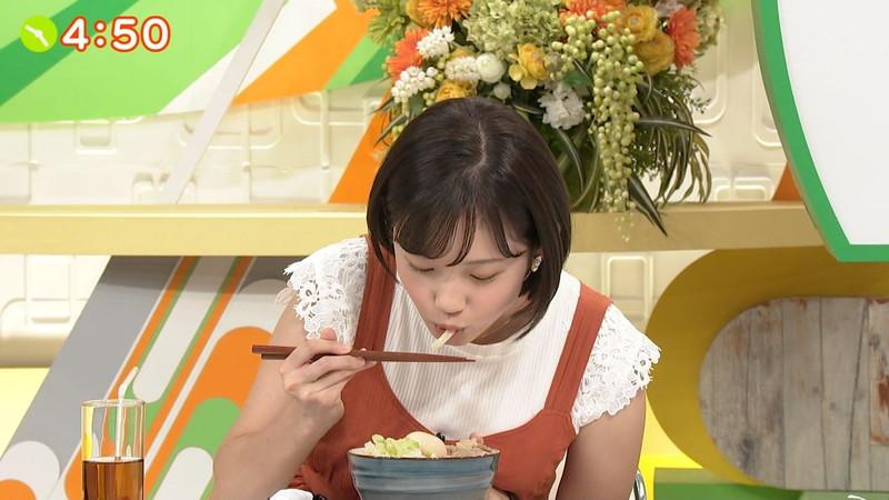 【女子アナキャプ画像】笑顔がとっても可愛らしい田中瞳ちゃんの食レポ! 18