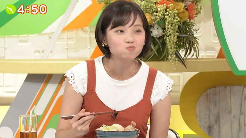 【女子アナキャプ画像】笑顔がとっても可愛らしい田中瞳ちゃんの食レポ! 19