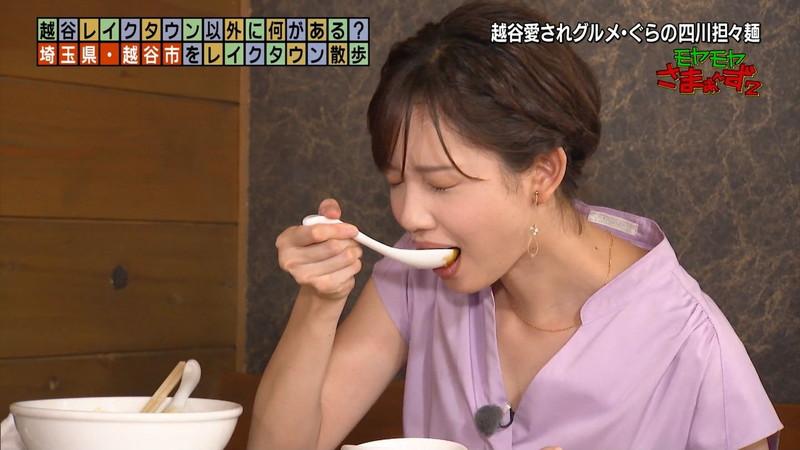 【女子アナキャプ画像】笑顔がとっても可愛らしい田中瞳ちゃんの食レポ! 64