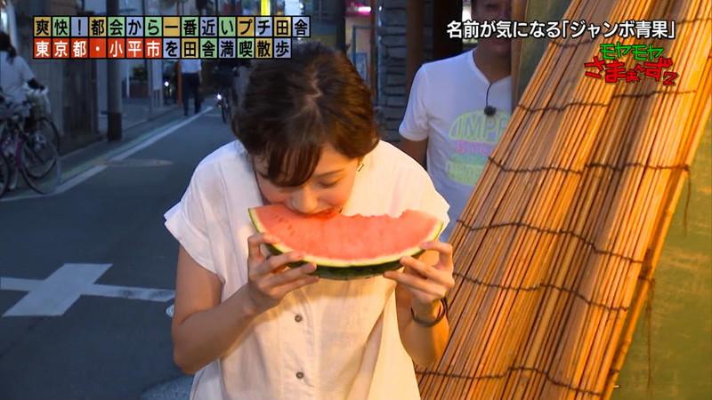 【女子アナキャプ画像】笑顔がとっても可愛らしい田中瞳ちゃんの食レポ! 72