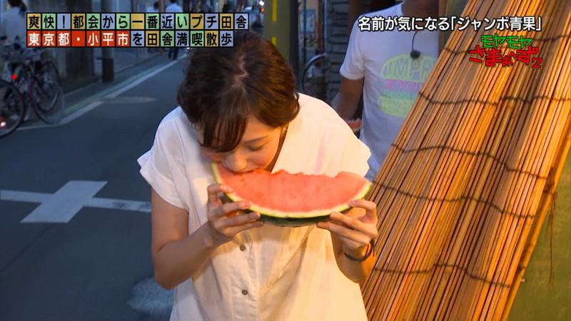 【女子アナキャプ画像】笑顔がとっても可愛らしい田中瞳ちゃんの食レポ! 73