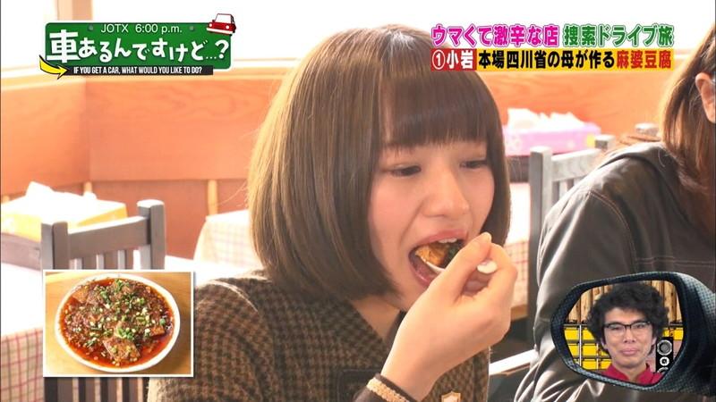 【中田花奈キャプ画像】可愛い乃木坂46アイドルが大口開けて激辛食レポw 05