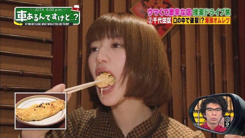 【中田花奈キャプ画像】可愛い乃木坂46アイドルが大口開けて激辛食レポw 13