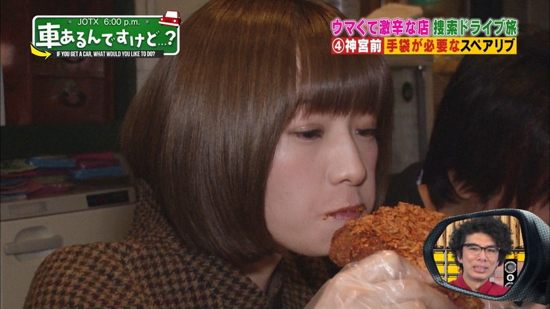 【中田花奈キャプ画像】可愛い乃木坂46アイドルが大口開けて激辛食レポw 28