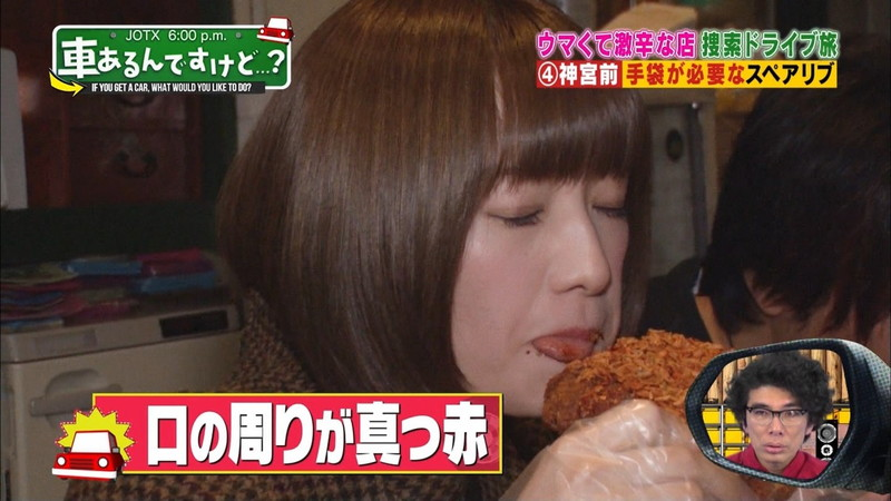 【中田花奈キャプ画像】可愛い乃木坂46アイドルが大口開けて激辛食レポw 29