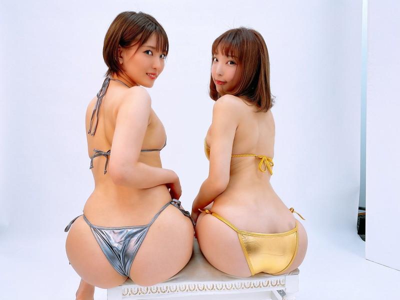 【まいてぃグラビア画像】綺麗でエロい巨尻をSNSで見せびらかしてる変態娘w 63