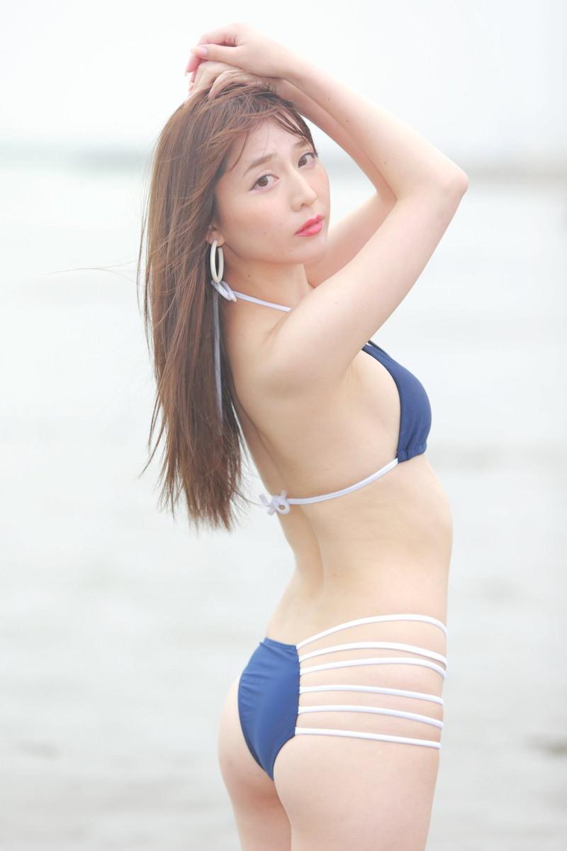 【堀尾実咲グラビア画像】スタイル抜群なスレンダーボディがソソる元RQ美女 58