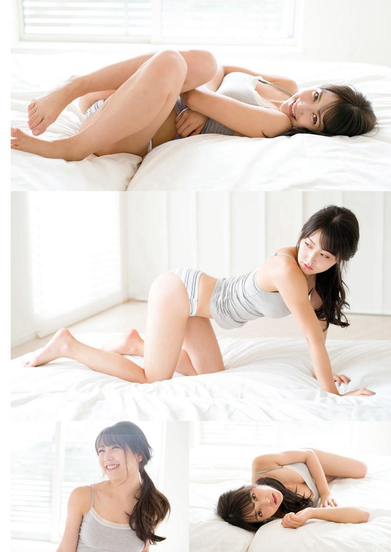 【白間美瑠グラビア画像】オッパイの谷間を大胆に披露している美少女アイドル! 05