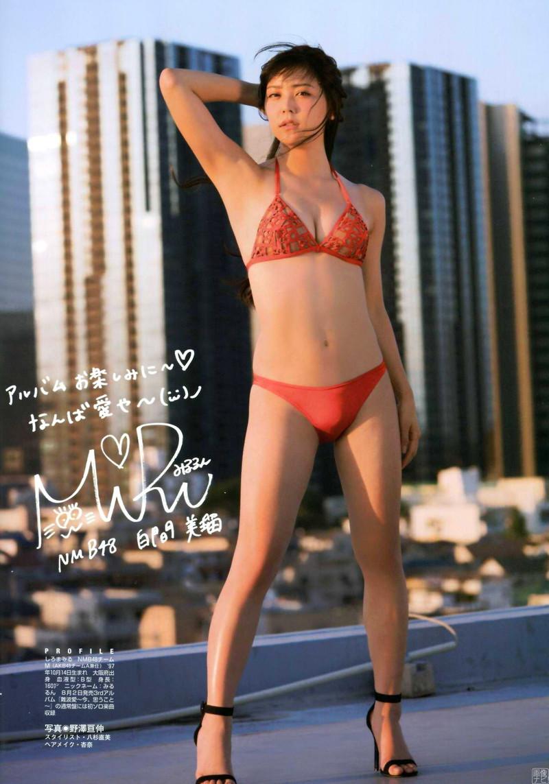 【白間美瑠グラビア画像】オッパイの谷間を大胆に披露している美少女アイドル! 56
