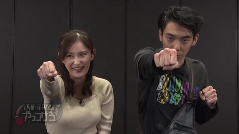 【池谷実悠キャプ画像】ハーフ系の顔立ちが綺麗な女子アナのニット越しオッパイ! 06