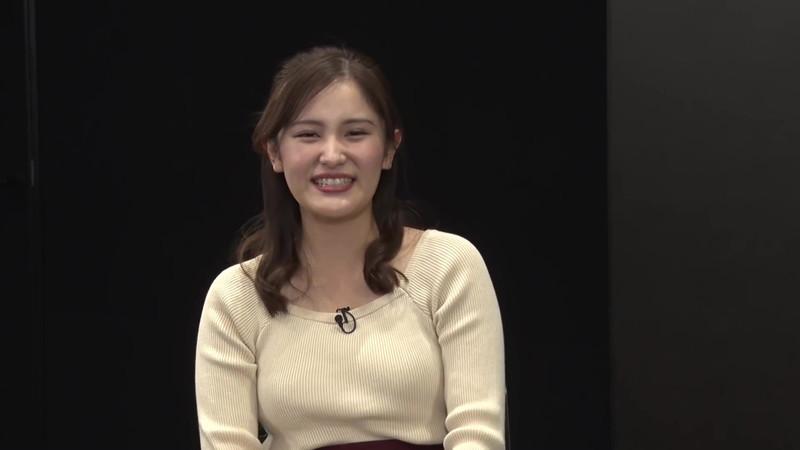 【池谷実悠キャプ画像】ハーフ系の顔立ちが綺麗な女子アナのニット越しオッパイ! 10