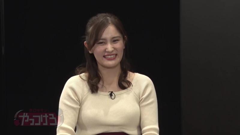 【池谷実悠キャプ画像】ハーフ系の顔立ちが綺麗な女子アナのニット越しオッパイ! 12