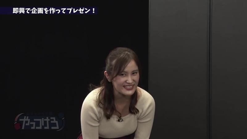 【池谷実悠キャプ画像】ハーフ系の顔立ちが綺麗な女子アナのニット越しオッパイ! 15