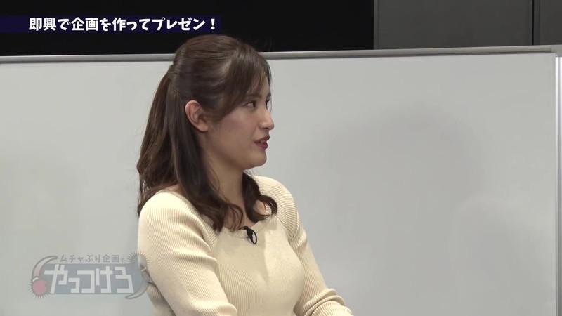 【池谷実悠キャプ画像】ハーフ系の顔立ちが綺麗な女子アナのニット越しオッパイ! 18