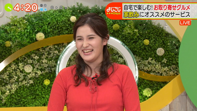 【池谷実悠キャプ画像】ハーフ系の顔立ちが綺麗な女子アナのニット越しオッパイ! 74