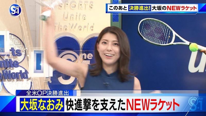 【上村彩子キャプ画像】ビール売り子の経験がある女子アナのノースリーブ姿など