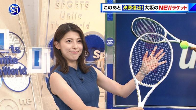 【上村彩子キャプ画像】ビール売り子の経験がある女子アナのノースリーブ姿など 04