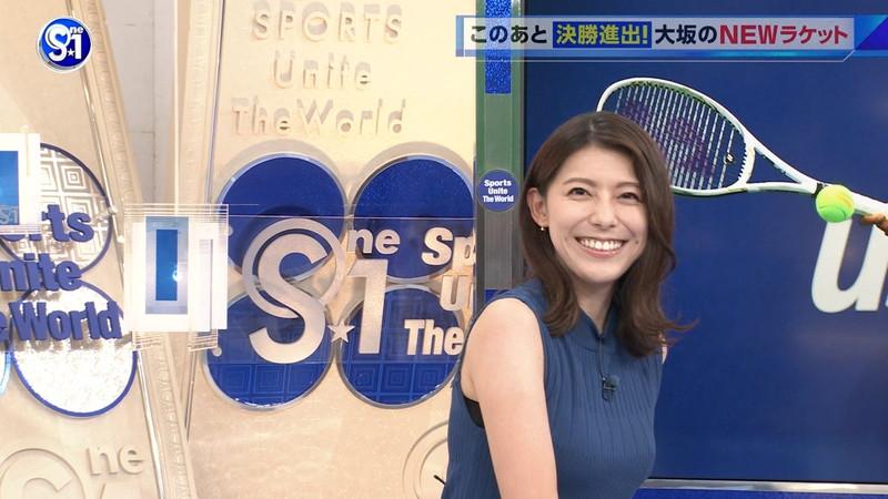 【上村彩子キャプ画像】ビール売り子の経験がある女子アナのノースリーブ姿など 08
