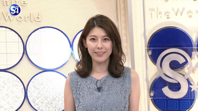 【上村彩子キャプ画像】ビール売り子の経験がある女子アナのノースリーブ姿など 10