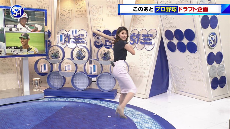 【上村彩子キャプ画像】ビール売り子の経験がある女子アナのノースリーブ姿など 53