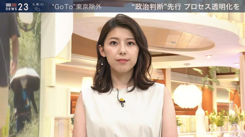 【上村彩子キャプ画像】ビール売り子の経験がある女子アナのノースリーブ姿など 71