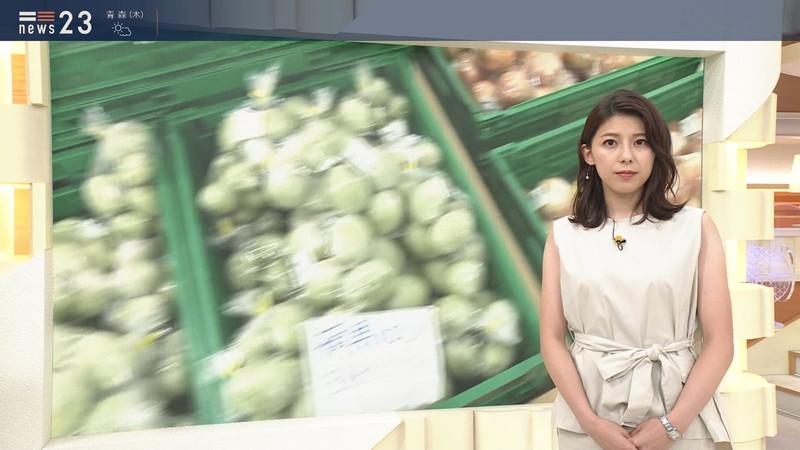 【上村彩子キャプ画像】ビール売り子の経験がある女子アナのノースリーブ姿など 72
