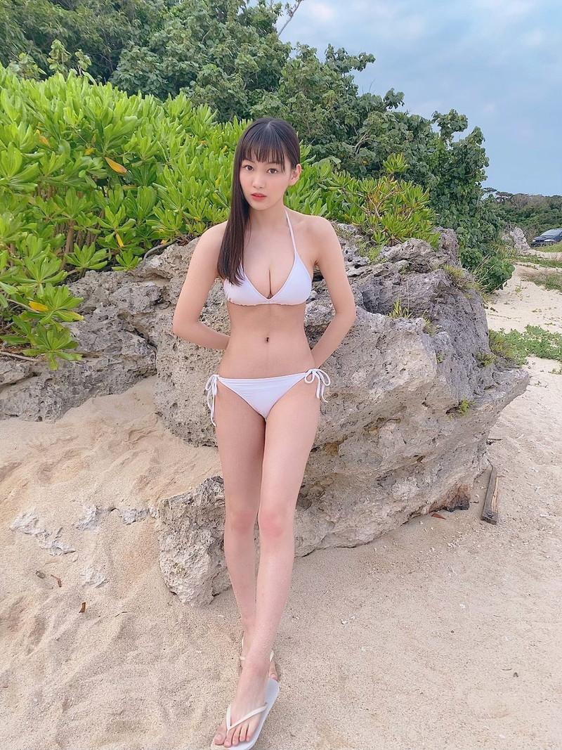 【吉澤遥奈エロ画像】令和最初のミスヤンマガが披露するFカップボディ! 29