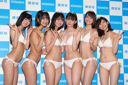 【吉澤遥奈エロ画像】令和最初のミスヤンマガが披露するFカップボディ! 43