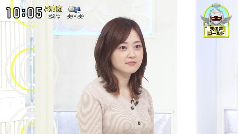 【水卜麻美キャプ画像】日テレ人気女子アナのニット越しオッパイと疑似フェラ! 13