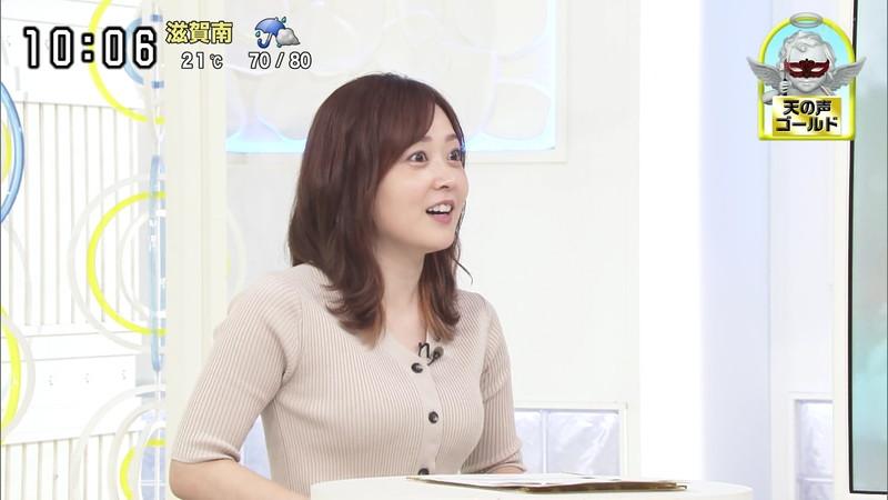 【水卜麻美キャプ画像】日テレ人気女子アナのニット越しオッパイと疑似フェラ! 15